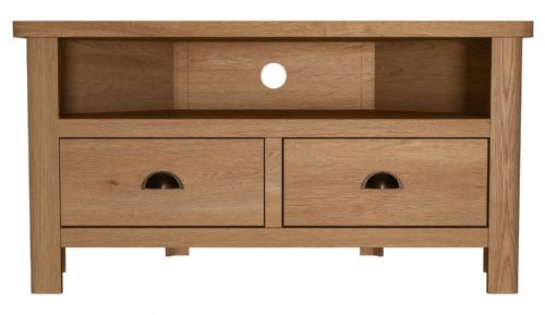 Richmond Rustic Oak Corner TV Unit